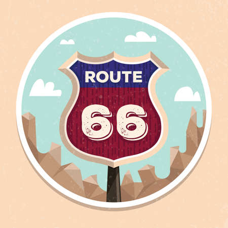66: route 66 road sign