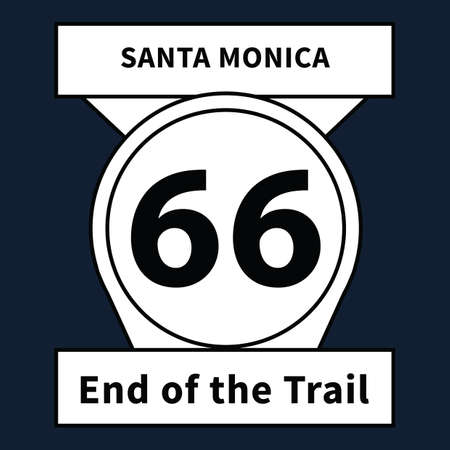end of the trail: end of the trail road sign Illustration