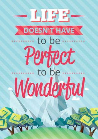 wonderful: motivational quote Illustration