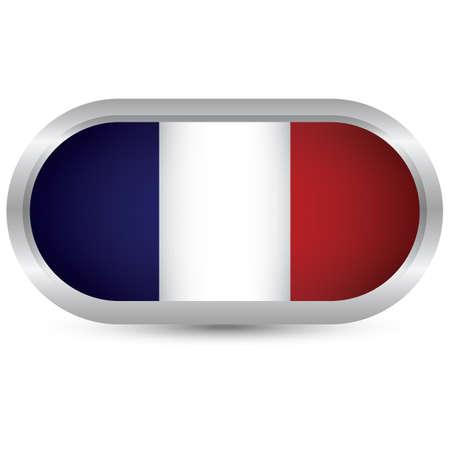 bandera francia: bot�n de bandera de Francia
