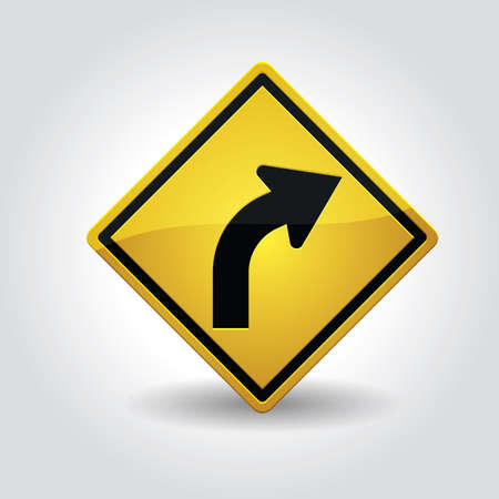 roadsigns: right curve sign
