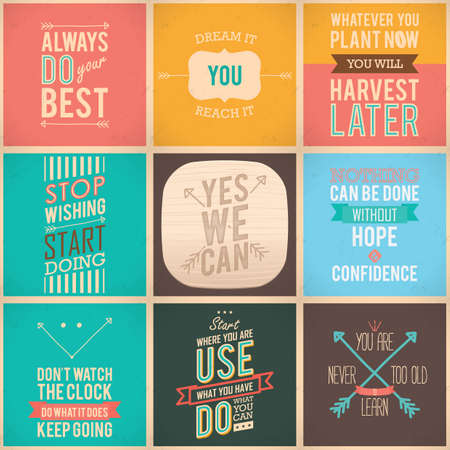 resourcefulness: motivational quote collection Illustration