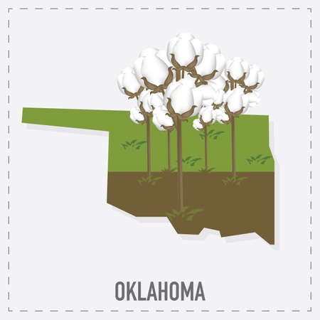 oklahoma: oklahoma map sticker