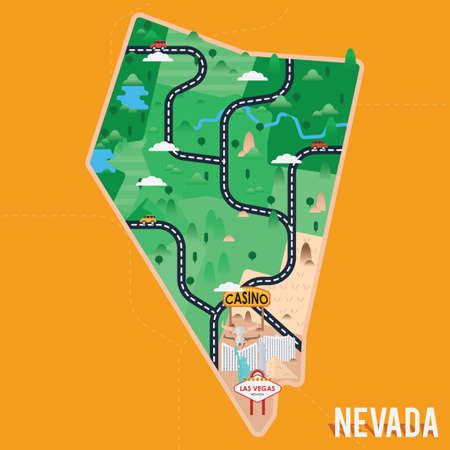 walkway: nevada map