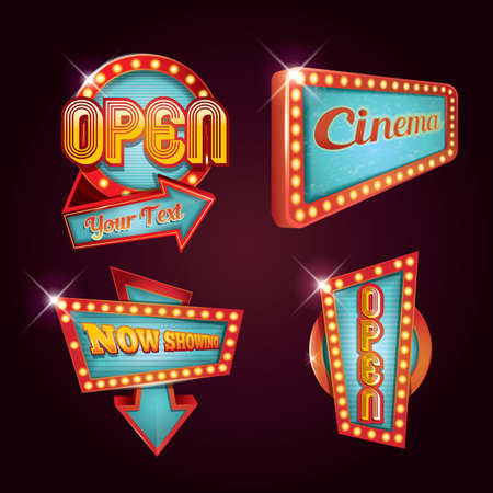 collection of cinema signage