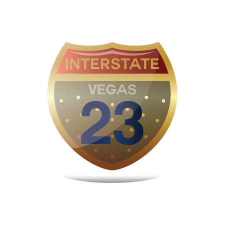 interstate: interstate vegas 23 highway sign
