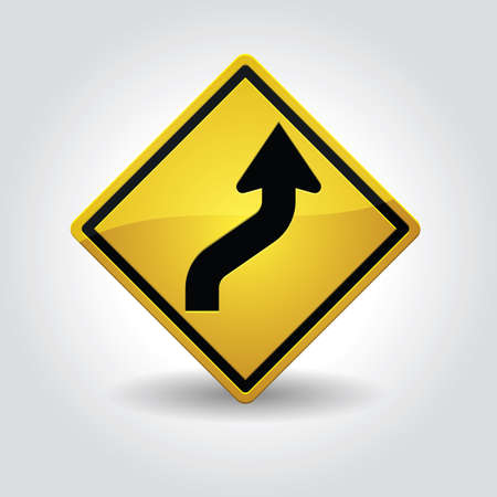 reverse: right reverse curve sign