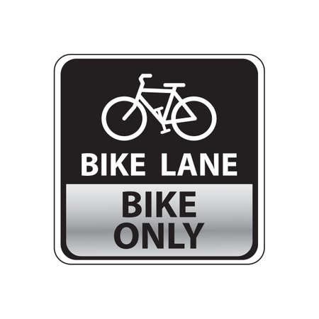 road bike: bike lane road sign
