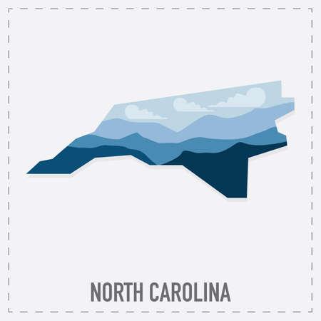 north carolina: north carolina map sticker