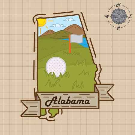 alabama: alabama map