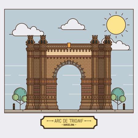 arc: arc de triomf Illustration