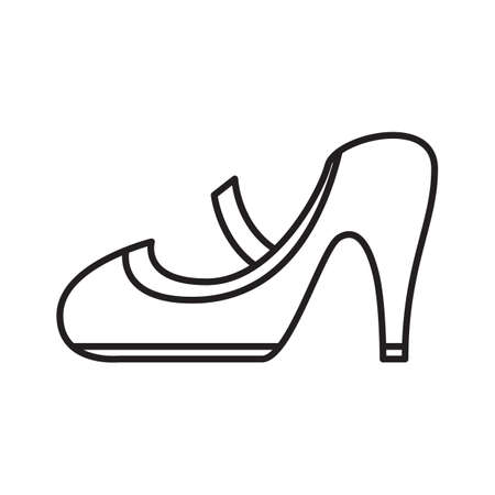 heel: high heel shoe Illustration