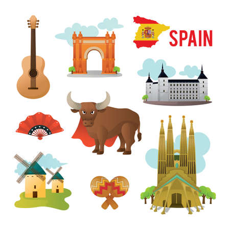 castilla: collection of spain icons