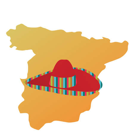 party wear: spain map and sombrero hat