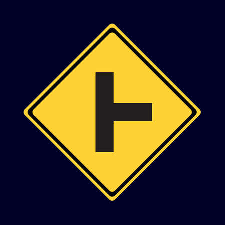 roadsigns: side road right road sign
