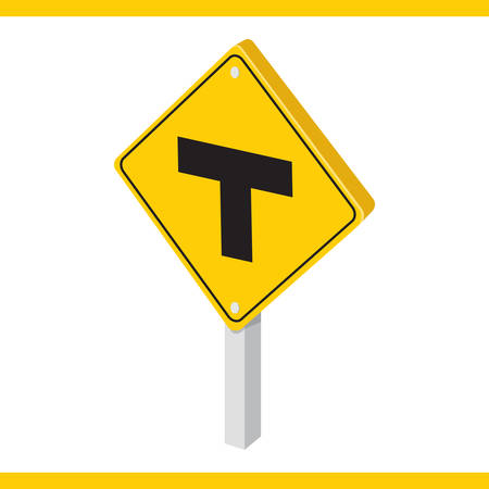 roadsigns: t-intersection road sign