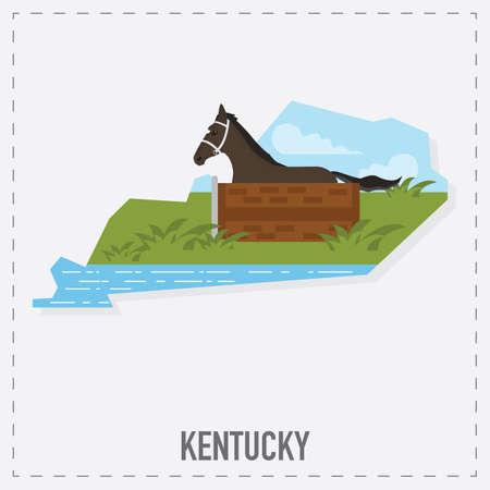 kentucky: kentucky map sticker