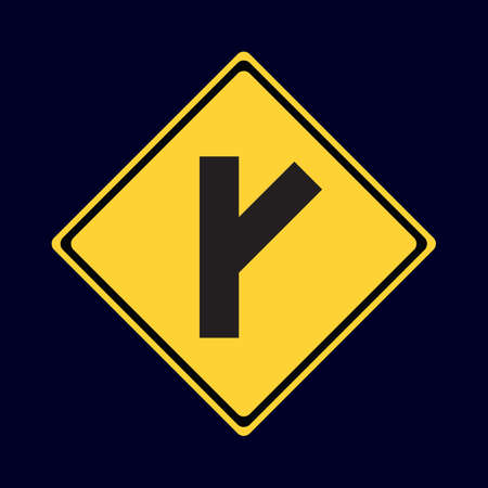 roadsigns: y intersection road sign