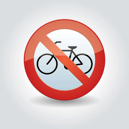 roadsigns: no bicycle parking sign