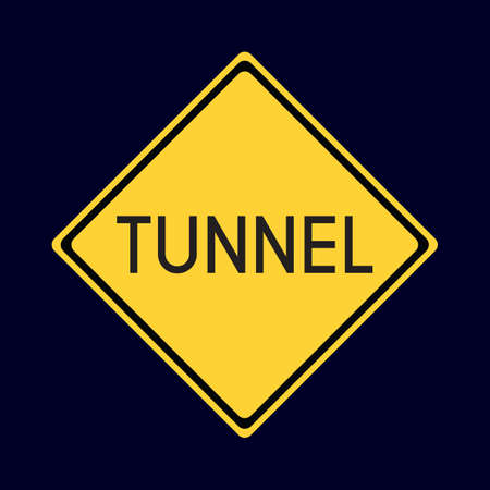 road tunnel: tunnel road sign