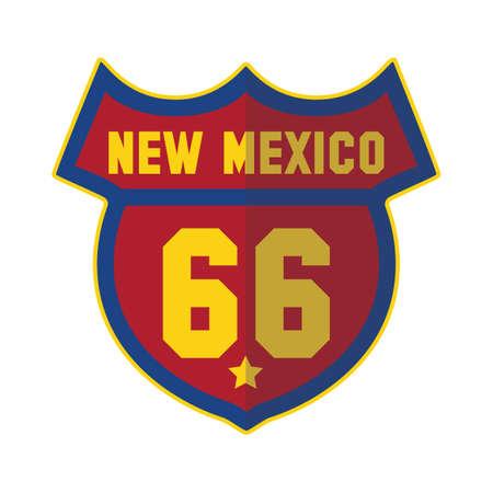 66: new mexico 66 Illustration