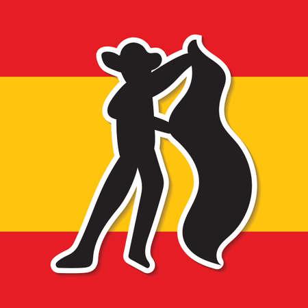 the matador: spain flag and matador