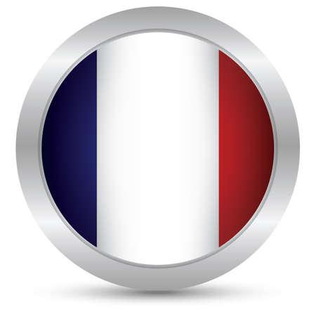 bandera francia: botón de bandera de Francia