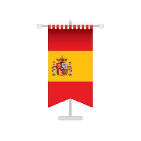 pennant: spain flag pennant Illustration