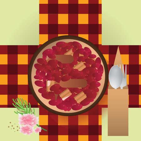 con: habas con jamon