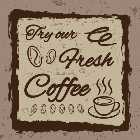 oldies: coffee wallpaper Illustration