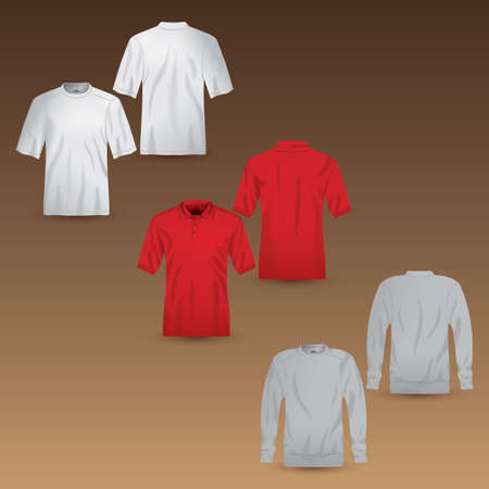 backview: set of t-shirts and jacket