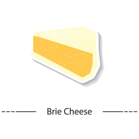 brie: brie cheese Illustration