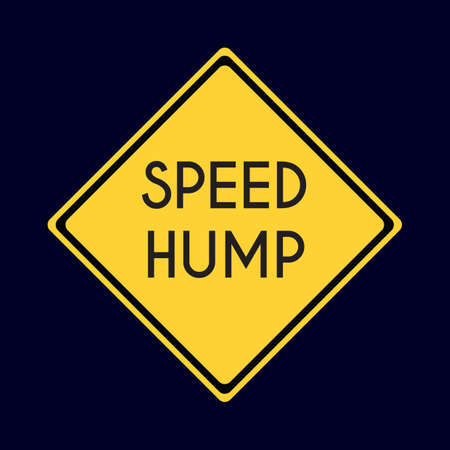speed hump road sign Illustration