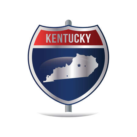 kentucky: kentucky highway sign Illustration