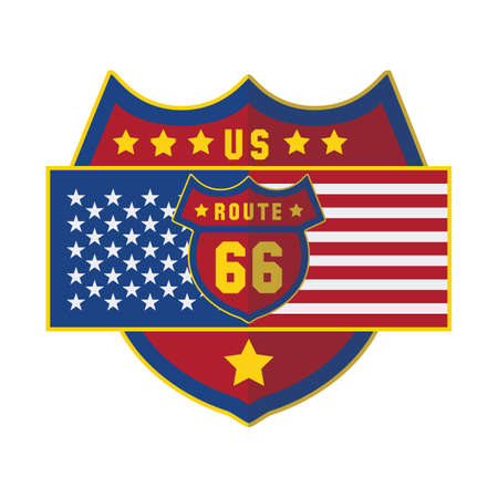 route 66: us route 66 Illustration