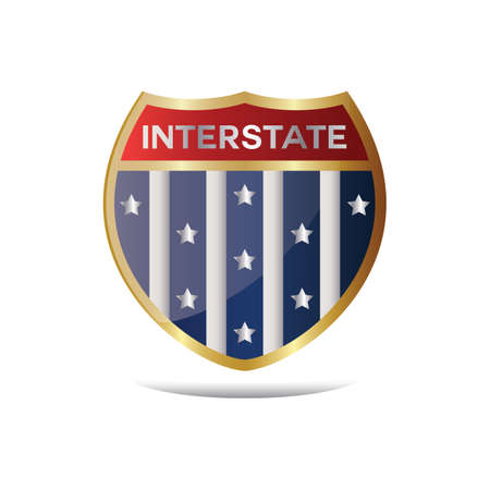 interstate highway sign Vetores