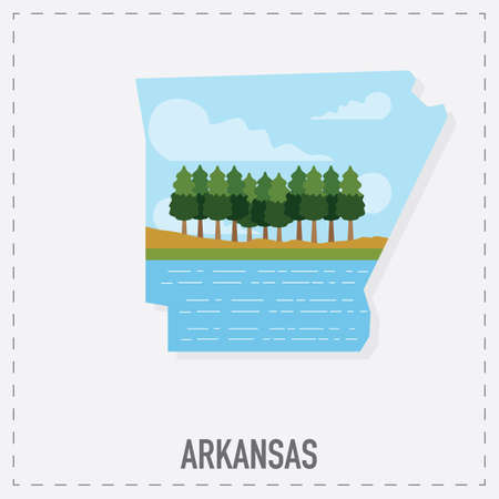 arkansas: arkansas map sticker