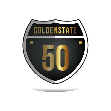 roadsigns: golden state 50 route sign
