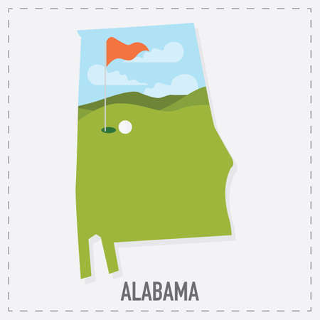 alabama state: alabama state map Illustration
