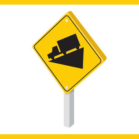 downgrade: downhill road sign