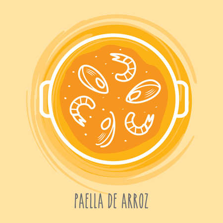 paella de arroz Illustration