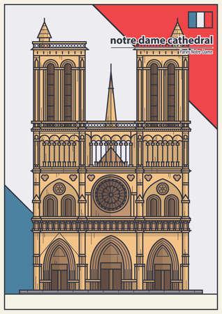 notre: notre dame cathedral Illustration