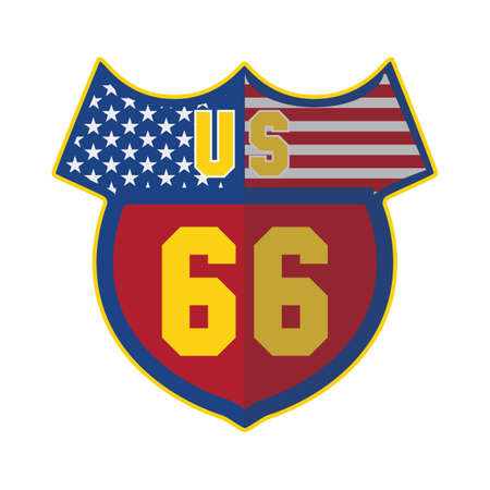 66: us route 66 Illustration