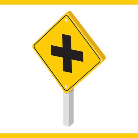 crossroad: se�al de tr�fico cruce