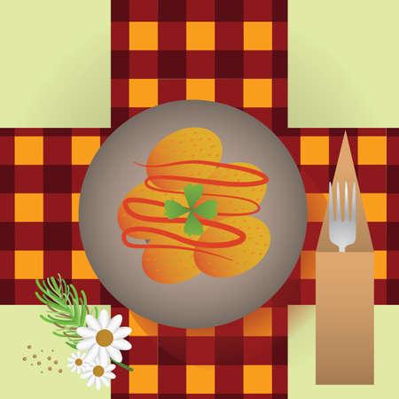 baked potatoes: papas arrugadas