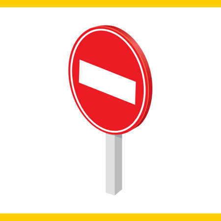 no entry: no entry road sign Illustration