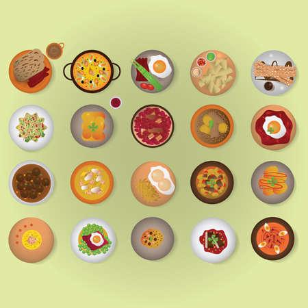 spanish cuisine set