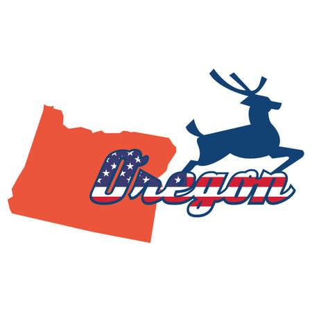 oregon: oregon state map