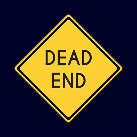 end of road: dead end road sign