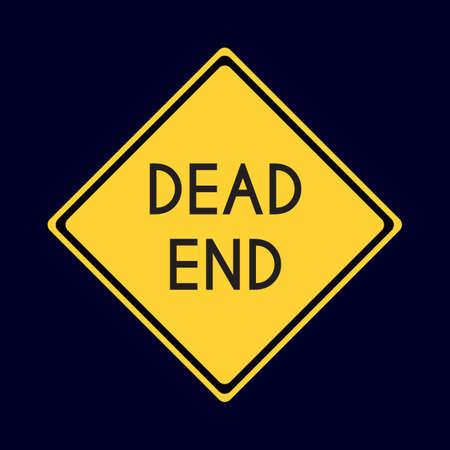dead end: dead end road sign